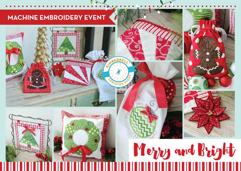Kimberbell Christmas Merry And Bright Embroidery Party Kiki S Quilt Shack